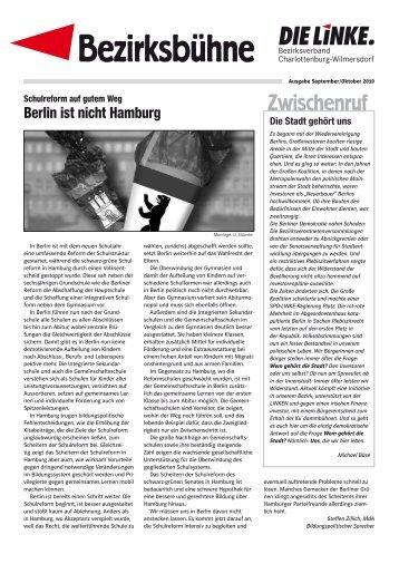 Berlin ist nicht Hamburg - DIE LINKE. Charlottenburg-Wilmersdorf