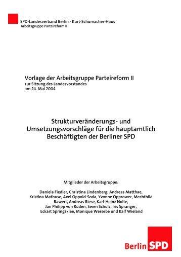 Vorlage der AG Parteireform II (PDF-Dokument) - SPD Lankwitz