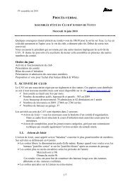 Ordre du jour 1.1. Aviron de loisir - Club de l'aviron de Vevey