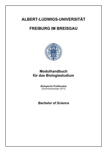 Modulbeschreibungen Biologische Profilmodule (SS 2011)