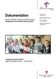 MOE-Wochen Dokumentation - Dienst für Mission, Ökumene und ...