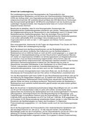 Antwort der Landesregierung Die Landesregierung ... - Renate Geuter