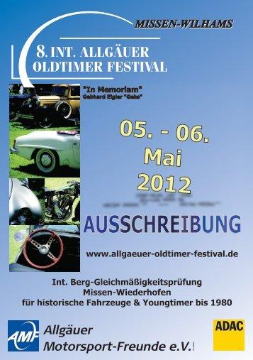 AUSSCHREIBUNG - Allgäuer Oldtimer Festival