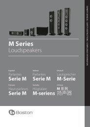 Serie M - Boston Acoustics
