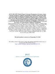 ACCF/AHA 2007 Clinical Expert Consensus ... - CCTA-Training