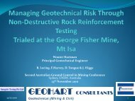2010 Sydney Ground Control Conference - Geohart Consultants