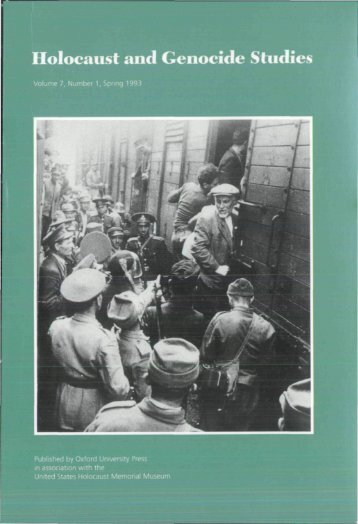 Front Matter (PDF) - Holocaust and Genocide Studies