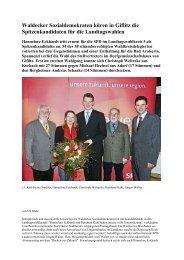 Waldecker Sozialdemokraten küren in Giflitz die ... - SPD-Diemelsee