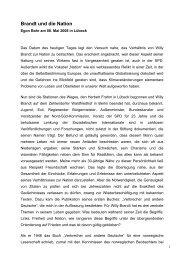 Rede im Wortlaut - Willy-Brandt-Kreis