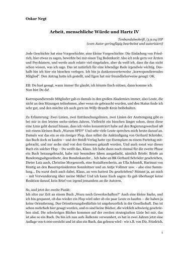 Tonbandabschrift - Willy-Brandt-Kreis