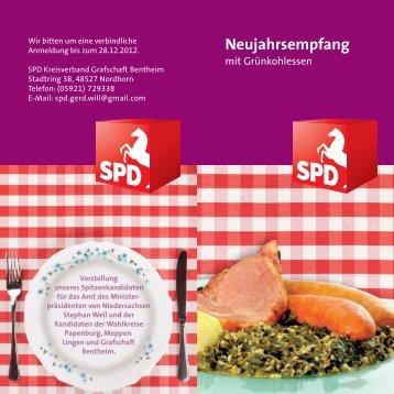 Neujahrsempfang mit Grünkohlessen - SPD Grafschaft Bentheim