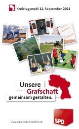 Wahlprogramm zur Kreistagswahl 2011 KURZ - SPD Grafschaft ...
