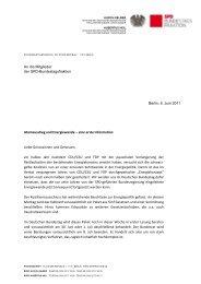 An die Mitglieder der SPD-Bundestagsfraktion Berlin, 6. Juni 2011 ...