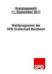 Wahlprogramm zur Kreistagswahl 2011 LANG - SPD Grafschaft ...