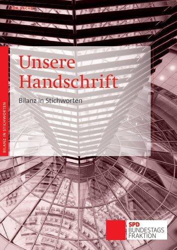 Unsere Bilanz in Stichworten - Dr. Martin Schwanholz