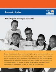 Community Update: Mid-Year Program & Partner Agency Results ...