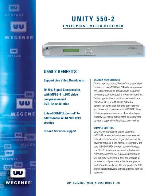 UNITY 550-2 - ENTERPRISE mEdIa RECEIVER - Wegener