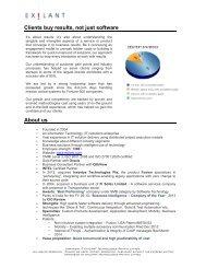 Corporate Fact sheet - EXILANT Technologies