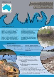 Estuaries and Coasts: adaptation options for a changing climate