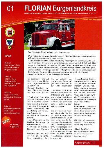Mitteilungsblatt der Kreisfeuerwehrverbandes Burgenlandkreis e.V. - Heft 01