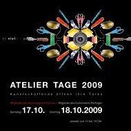Download Broschüre Ateliertage 2009 - Kunstverein Kirchheim eV