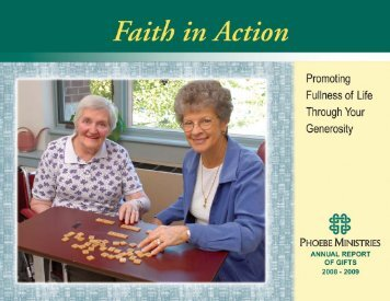 Phoebe Ministries Annual Report 2008-09