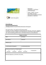 Anmeldung für die Peeneschule in Groß Gievitz - AWO-Müritz