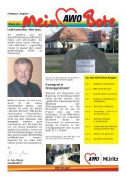 Ausgabe 1/2011 - AWO-Müritz