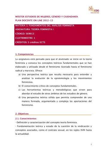 1 MÁSTER ESTUDIOS DE MUJERES, GÉNERO Y CIUDADANÍA ...