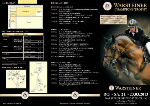 DO. - SA. 21. - 23.03.2013 - warsteiner-reitsport