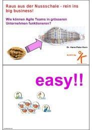 Raus aus der Nussschale - rein ins big business! - Korn AG
