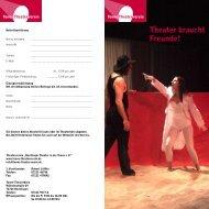 Theater braucht Freunde! - Tonne Theaterverein