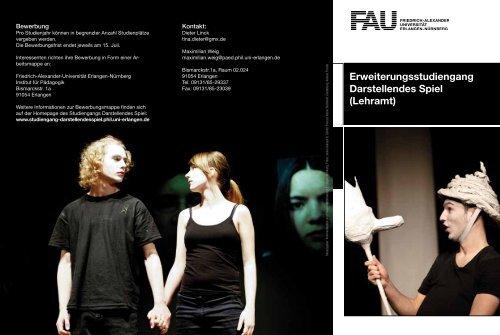 Erweiterungsstudiengang Darstellendes Spiel - Theater am ...