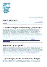 TAG-Newsletter 12-04 - Theater am Gymnasium in Bayern