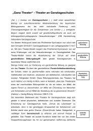 Ganz Theater - Theater am Gymnasium in Bayern