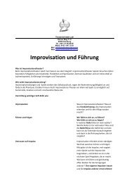 Improvisation und Führung - Theaterwerkstatt Ludi