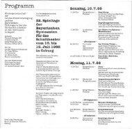 Programm - Theater am Gymnasium in Bayern