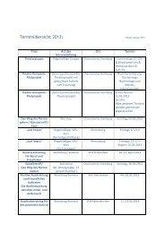 Terminübersicht 2013: - Theaterwerkstatt Ludi