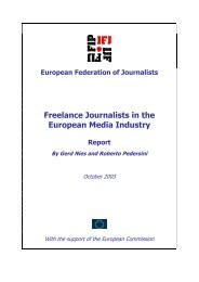 Freelance journalists in the European media industry (second draft)