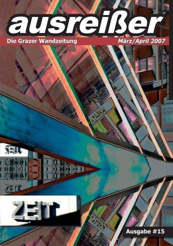 Zeit - ausgabe #15 - ausreißer - die grazer wandzeitung - mur.at