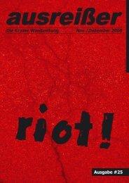 riot - ausreißer - die grazer wandzeitung - Mur