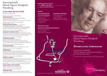 Weitere Informationen - Prof. Musikwissenschaft - Universität Bayreuth