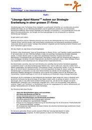 Zwei Anwendungsbeispiele der SolutionStage in ... - Korn AG