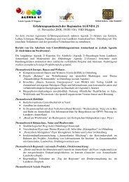 Erfahrungsaustausch der Regionalen AGENDA 21 11. November ...