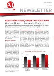 NEWSLETTER - Arbeiterkammer Oberösterreich