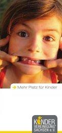 Mehr Platz für Kinder - Kindervereinigung Chemnitz