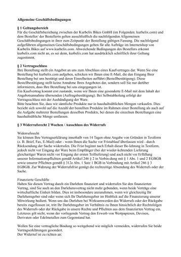 Allgemeine Geschäftsbedingungen § 1 Geltungsbereich Für die ...