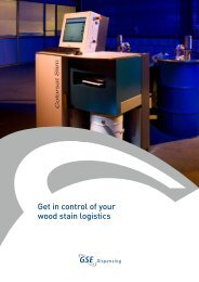 Get in control of your wood stain logistics - GSE Dispensing