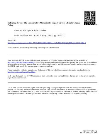 McCright_Defeating Kyoto.pdf - Climate Access