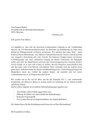 Frau Irmgard Badura Geschäftsstelle der Behindertenbeauftragten ...